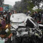 पूर्व मंत्री भानु के भांजे सहित पांच की दर्दनाक मौत, ट्रक से टकराया स्कार्पियो